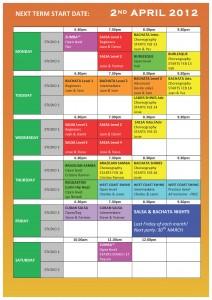 TS DANCE TIMETABLE 2012 - Term 3