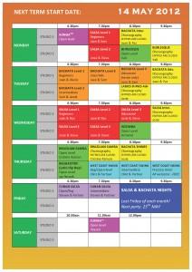 TS DANCE TIMETABLE 2012 - Term 4