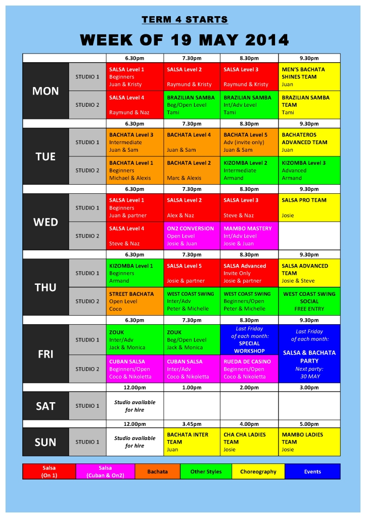 TIMETABLE 2014 - Term 4