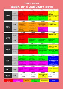 TIMETABLE 2015 - Term 1 web