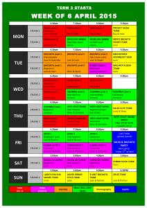 TIMETABLE 2015 - Term 3