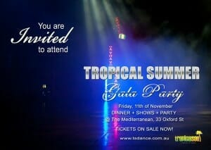 Tropical gala summer party