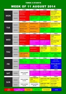 TIMETABLE 2014 - Term 6