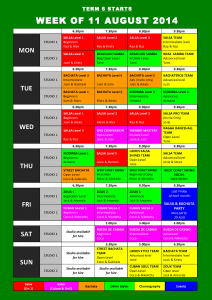 TIMETABLE 2014 - Term 6