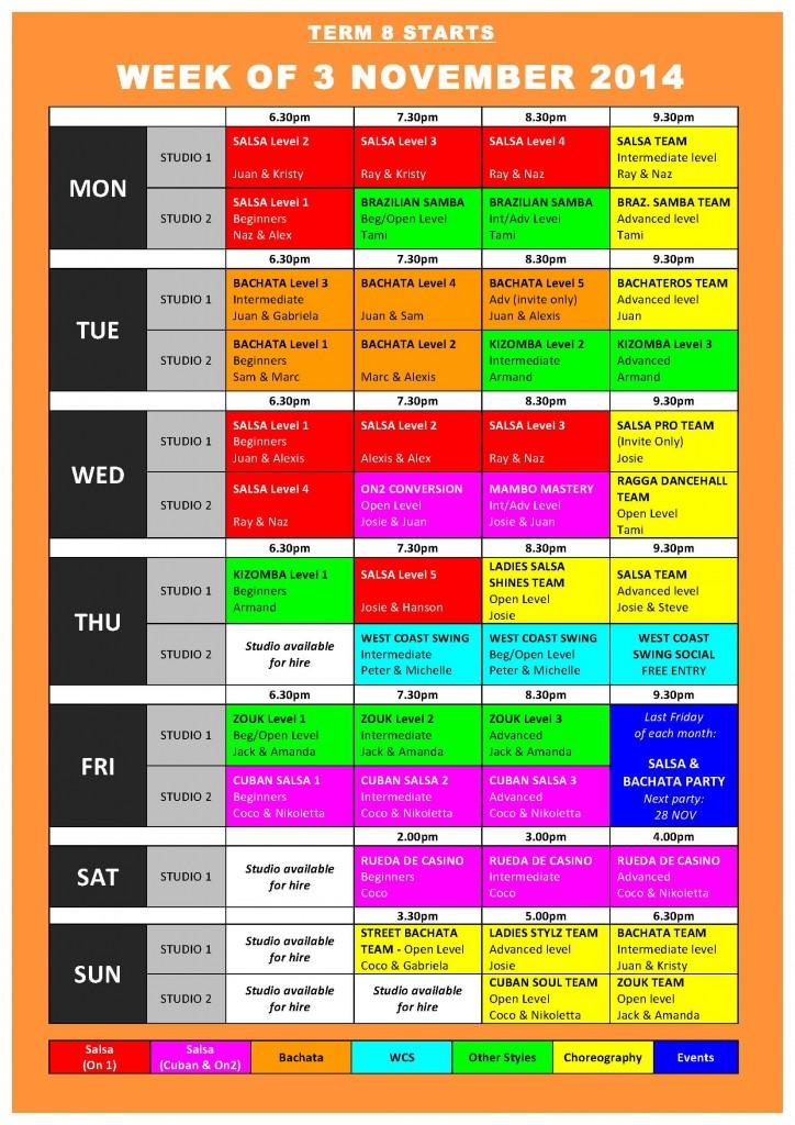 TIMETABLE 2014 - Term 8