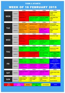 TIMETABLE 2015 - Term 2