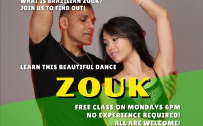 FREE Absolute Beginners BRAZILIAN ZOUK classes